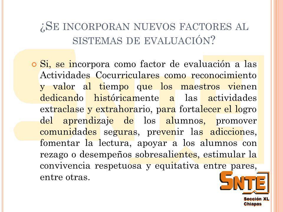 Sección XL Chiapas La participación en el Programa Nacional de Carrera Magisterial como sistema de promoción horizontal, que estimula los mejores desempeños docentes sigue siendo eminentemente voluntaria.