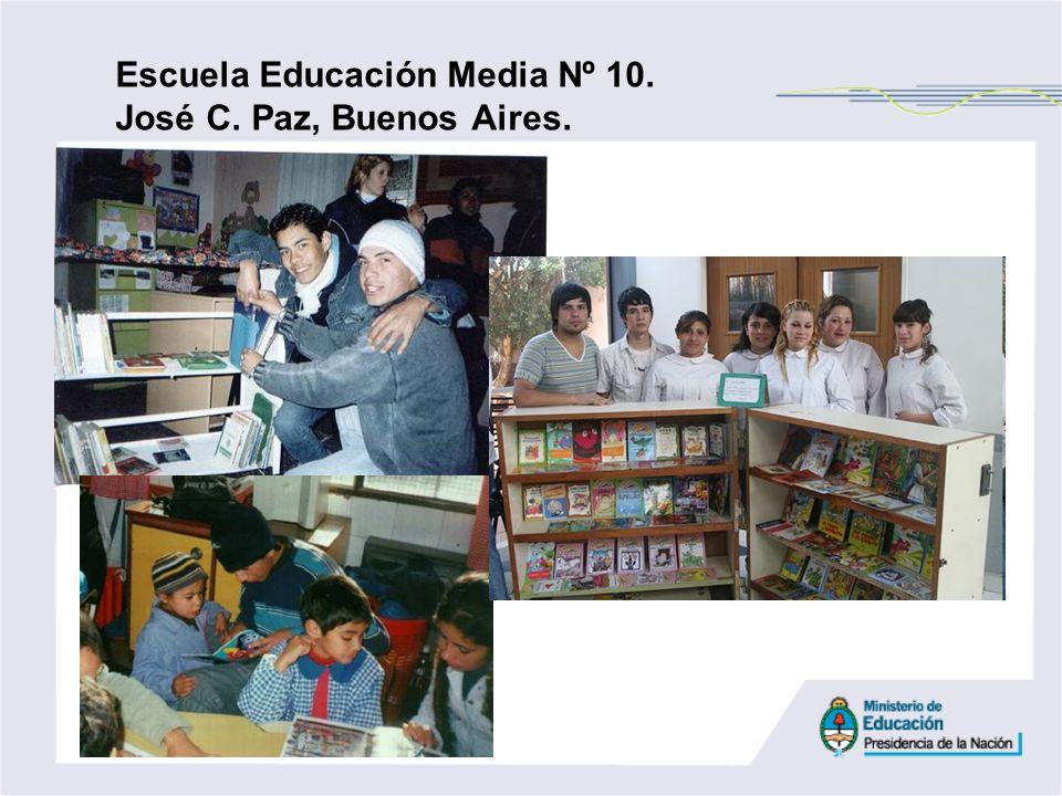 Escuela Educación Media Nº 10. José C. Paz, Buenos Aires.