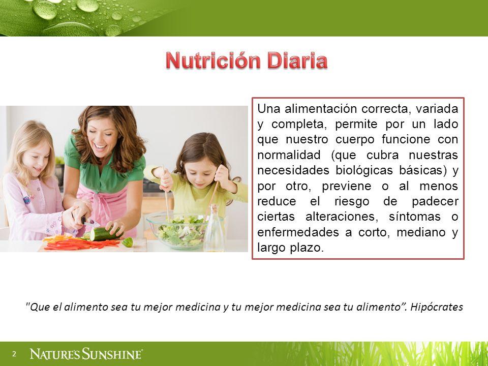2 Una alimentación correcta, variada y completa, permite por un lado que nuestro cuerpo funcione con normalidad (que cubra nuestras necesidades biológ