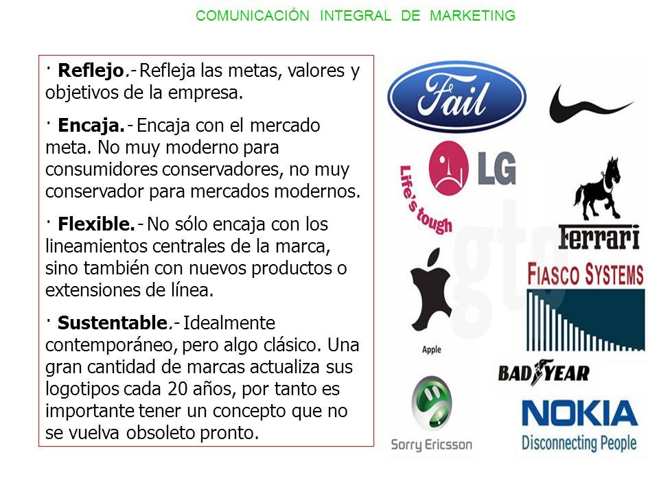 · Reflejo.- Refleja las metas, valores y objetivos de la empresa. · Encaja.- Encaja con el mercado meta. No muy moderno para consumidores conservadore