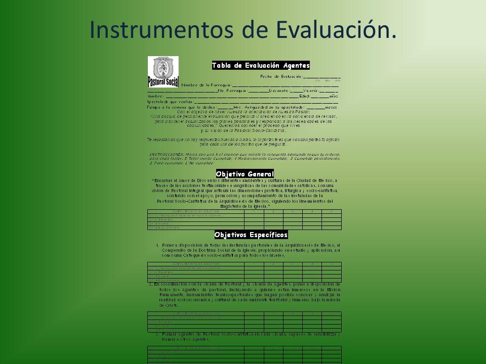 Instrumentos de Evaluación.