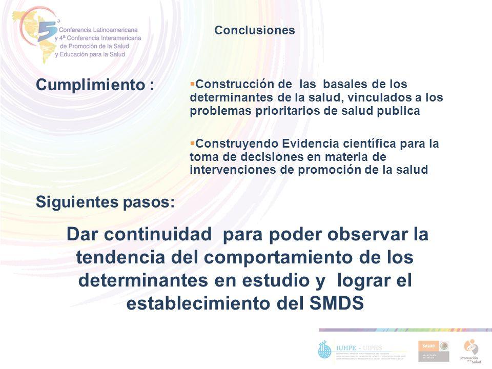 Construcción de las basales de los determinantes de la salud, vinculados a los problemas prioritarios de salud publica Construyendo Evidencia científi