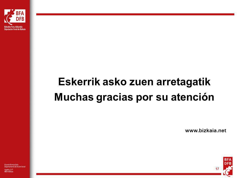 17 Eskerrik asko zuen arretagatik Muchas gracias por su atención www.bizkaia.net