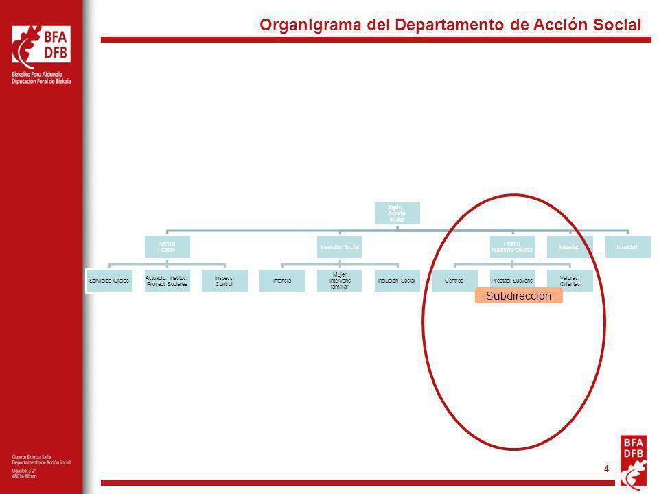 4 Subdirección Organigrama del Departamento de Acción Social