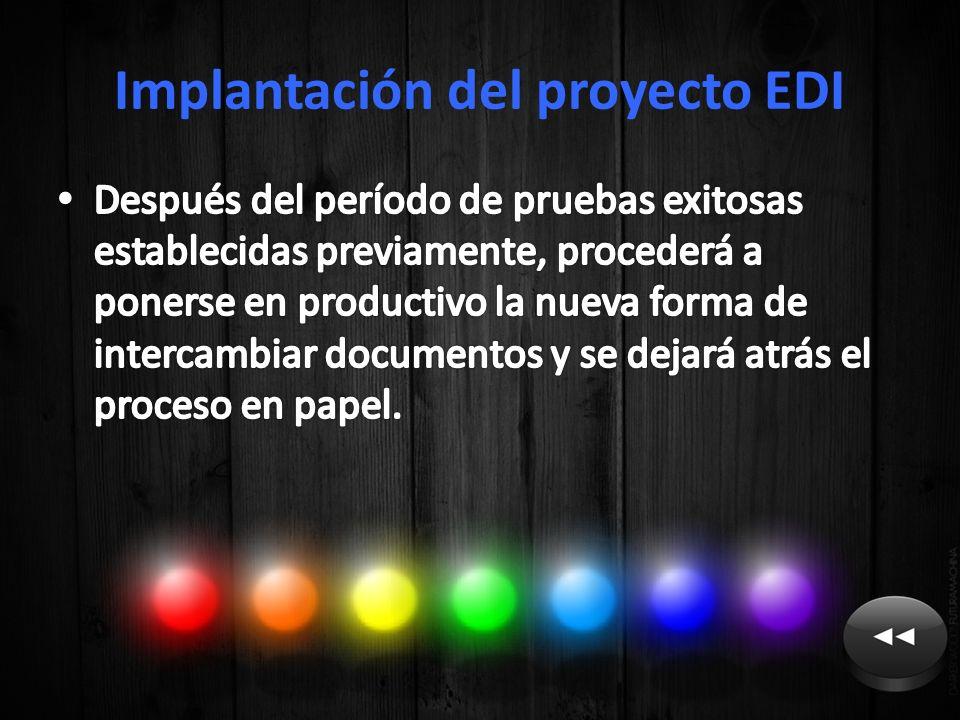Implantación del proyecto EDI