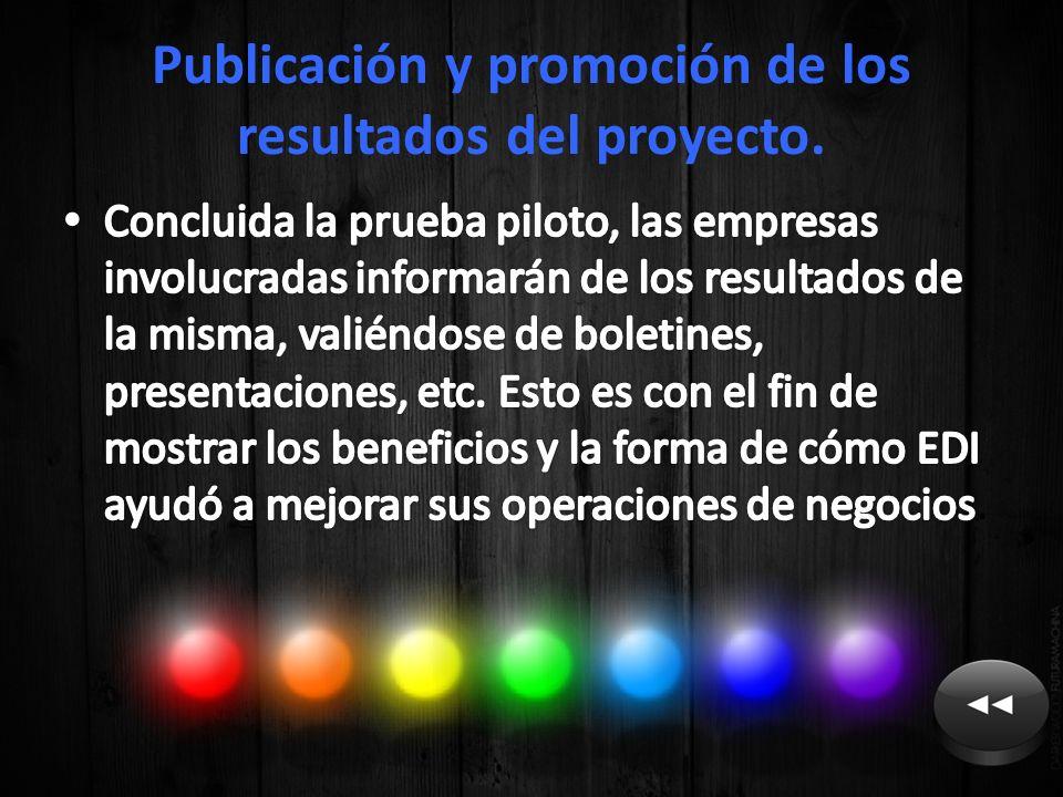 Publicación y promoción de los resultados del proyecto.