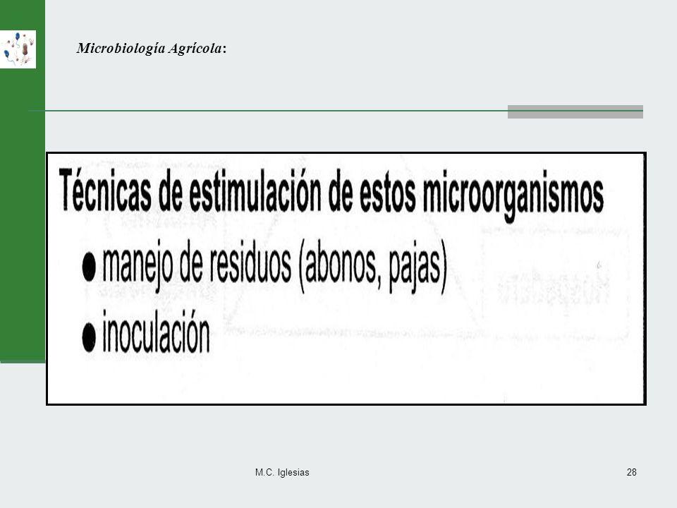 M.C. Iglesias28 Microbiología Agrícola: