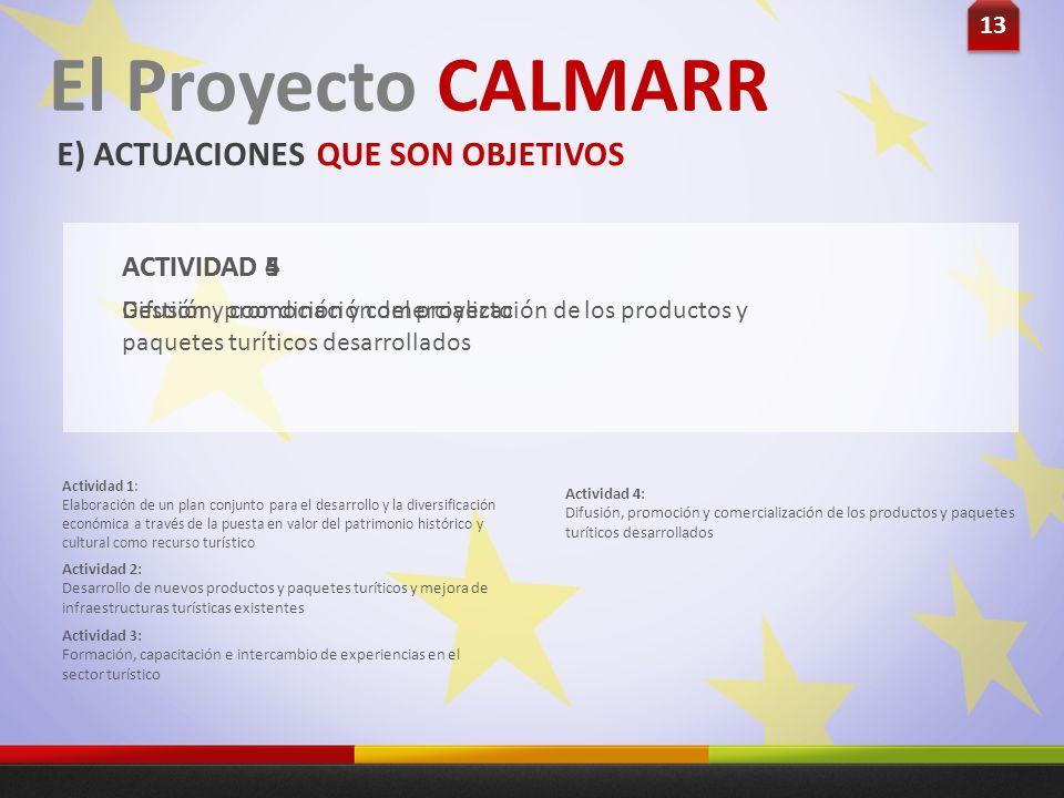 ACTIVIDAD 4 Actividad 1: Elaboración de un plan conjunto para el desarrollo y la diversificación económica a través de la puesta en valor del patrimon