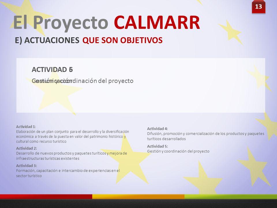 Gestión y coordinación del proyecto ACTIVIDAD 5 Actividad 1: Elaboración de un plan conjunto para el desarrollo y la diversificación económica a travé