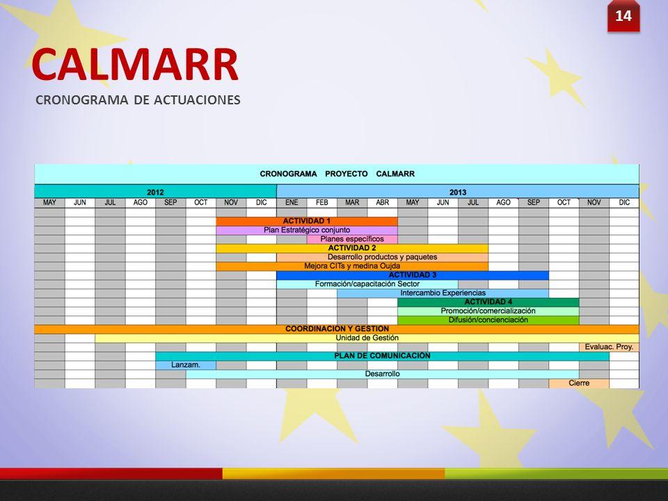 CALMARR CRONOGRAMA DE ACTUACIONES 14