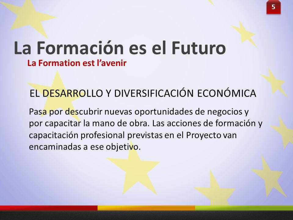La Formación es el Futuro Pasa por descubrir nuevas oportunidades de negocios y por capacitar la mano de obra. Las acciones de formación y capacitació