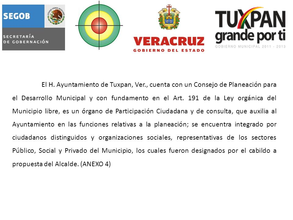 1.7.3 ORGANOS DE PARTICIPACION ¿Cuáles son las Comisiones y/o Consejos existentes en el Municipio.
