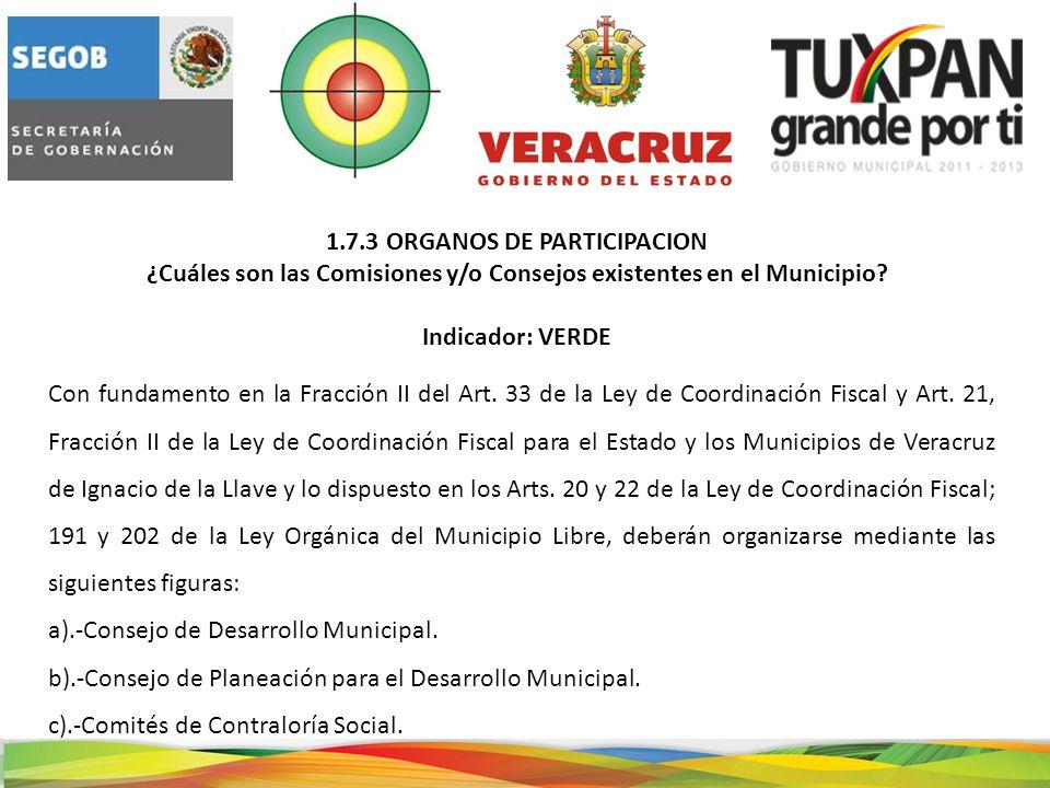 El H.Ayuntamiento de Tuxpan, Ver., cuenta con un Consejo de Desarrollo Municipal.