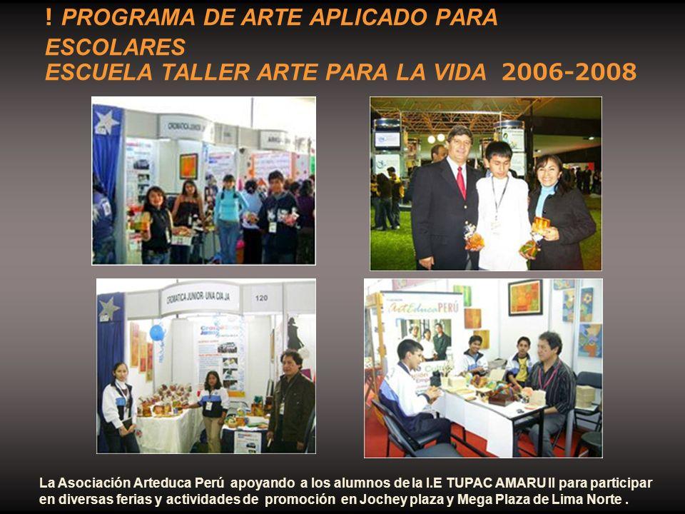 La Asociación Arteduca Perú apoyando a los alumnos de la I.E TUPAC AMARU II para participar en diversas ferias y actividades de promoción en Jochey pl