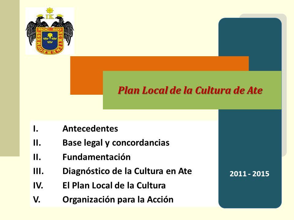 Plan Local de la Cultura de Ate IV.Diagnóstico de la Cultura en Ate Ate tiene una diversidad de recursos monumentales, arqueológicos, culturales y paisajísticos.
