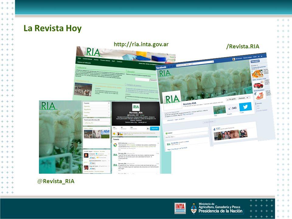 La Revista Hoy /Revista.RIA @Revista_RIA http://ria.inta.gov.ar