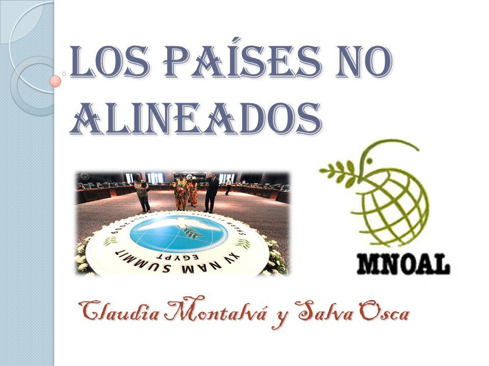 LOS PAÍSES NO ALINEADOS Claudia Montalvá y Salva Osca