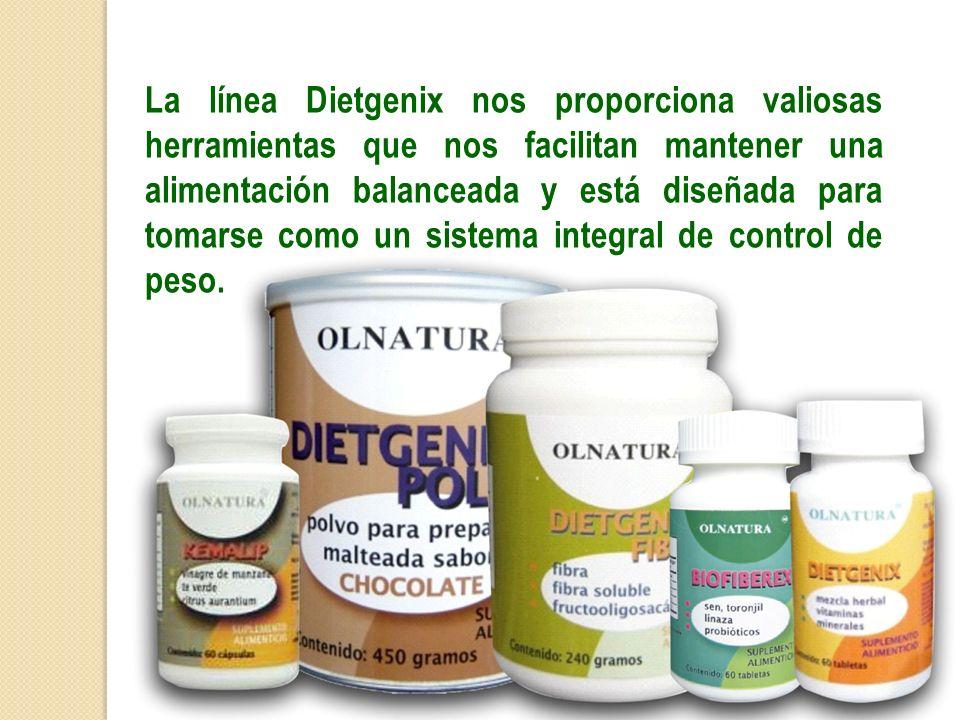 La línea Dietgenix nos proporciona valiosas herramientas que nos facilitan mantener una alimentación balanceada y está diseñada para tomarse como un sistema integral de control de peso.