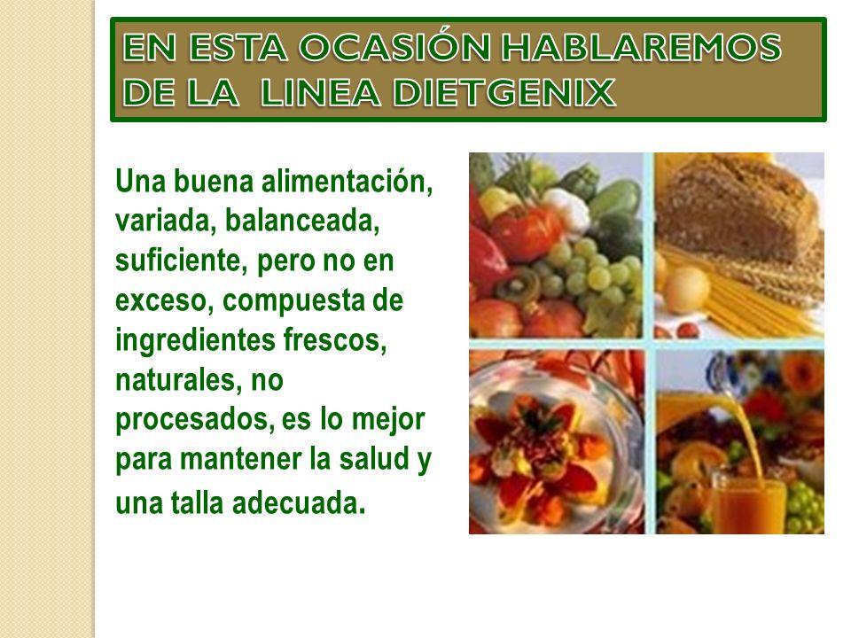 LINEA DIETGENIX (Dieta) El sistema Dietgenix contempla una comida libre en el día.