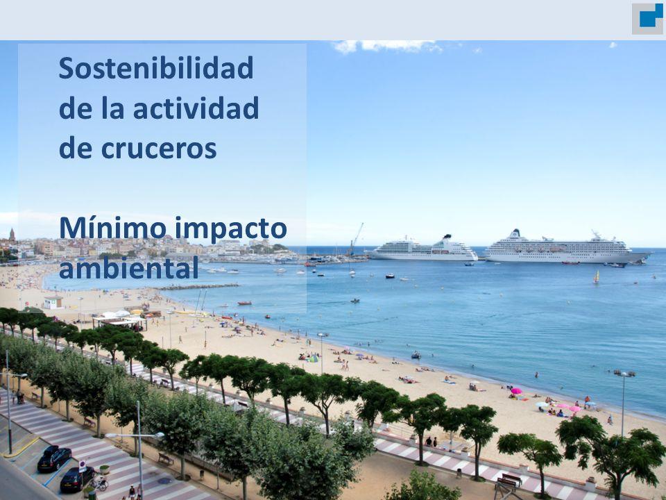 Ports de la Generalitat Sostenibilidad de la actividad de cruceros Mínimo impacto ambiental