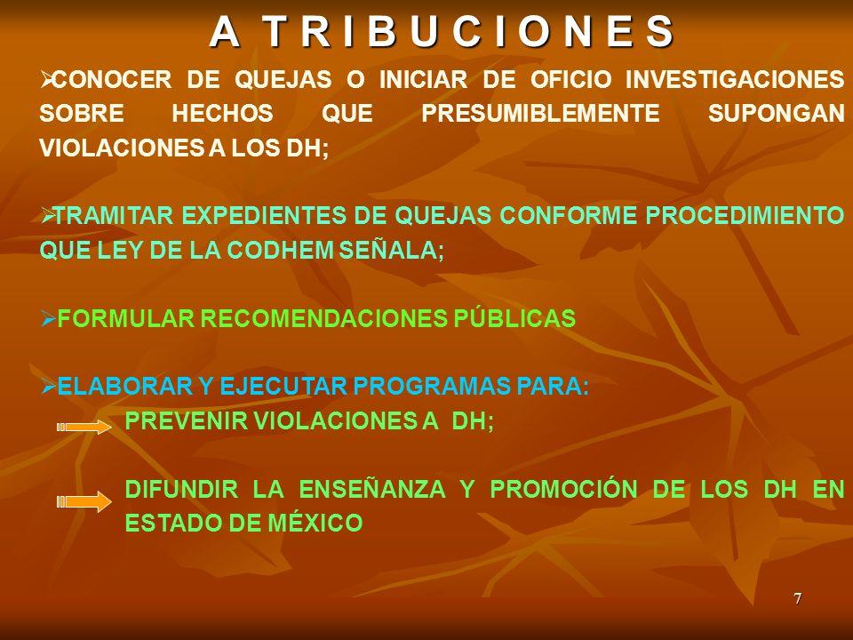 8 ATRIBUCIONES PROCURAR: LA MEDIACIÓN Y LA CONCILIACIÓN DE MANERA VOLUNTARIA ENTRE LAS PARTES.