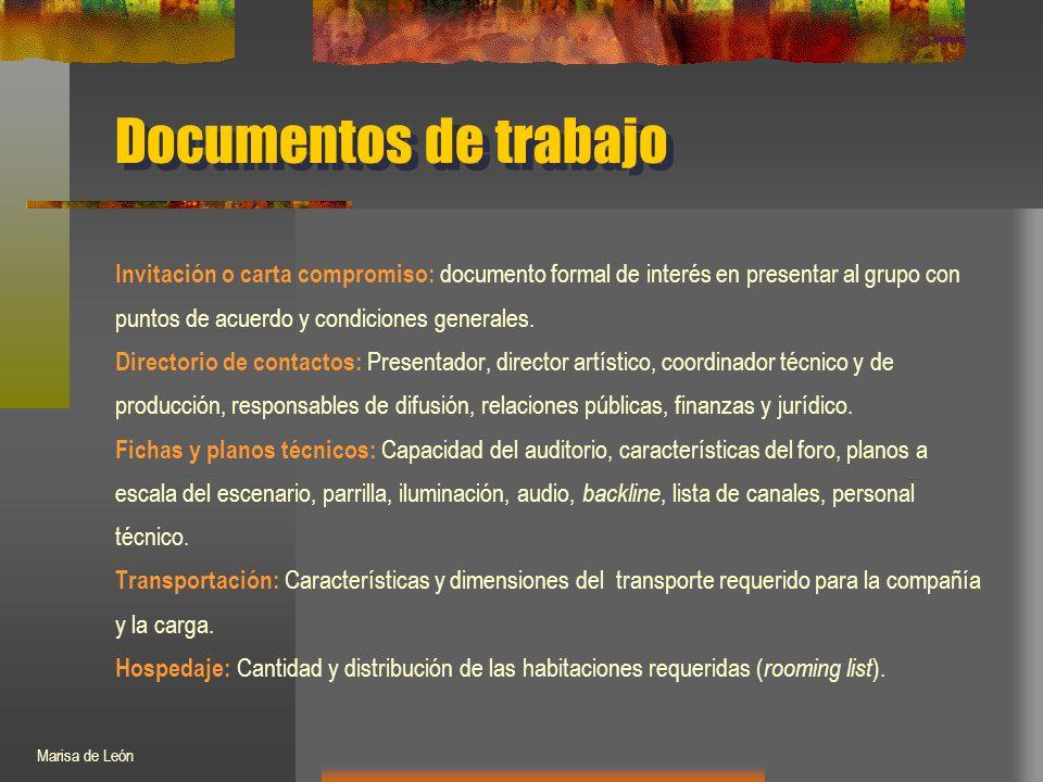 Invitación o carta compromiso: documento formal de interés en presentar al grupo con puntos de acuerdo y condiciones generales.