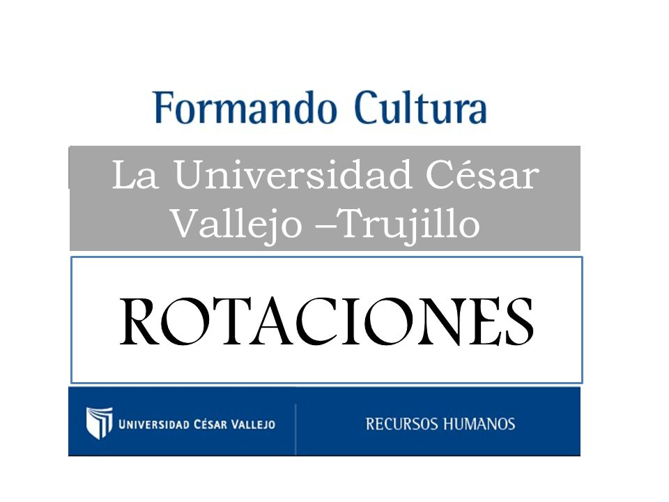 La Universidad César Vallejo –Trujillo