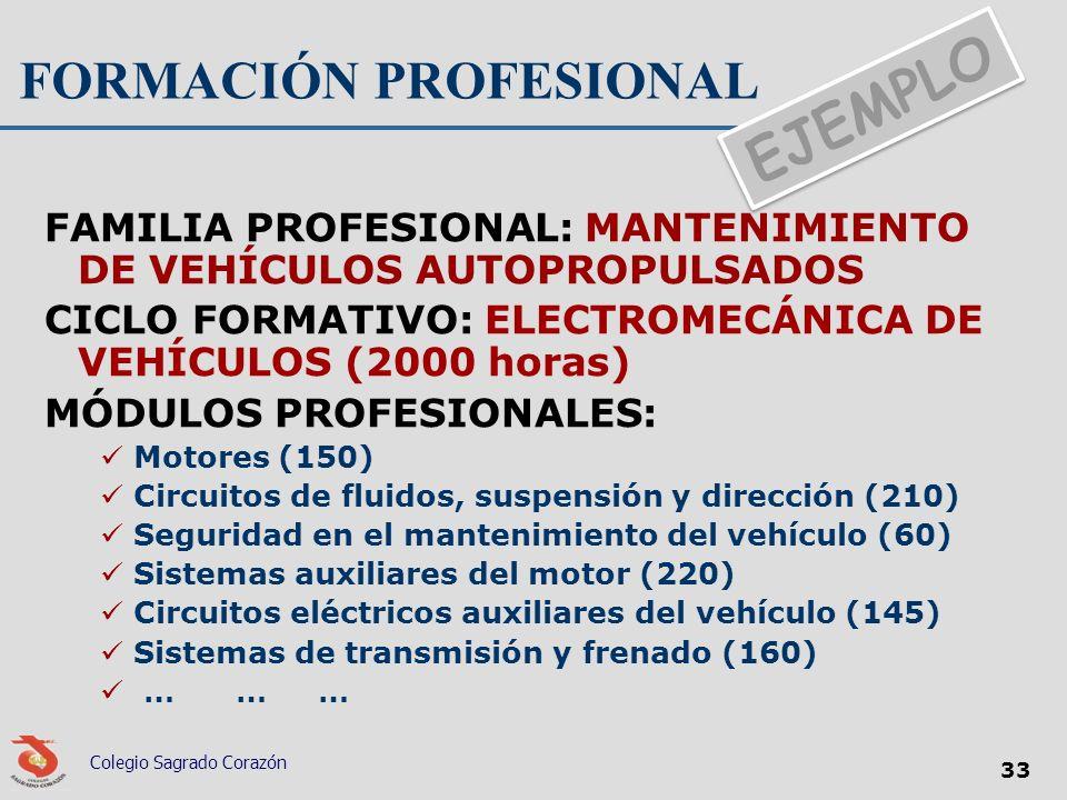 FORMACIÓN PROFESIONAL FAMILIA PROFESIONAL: MANTENIMIENTO DE VEHÍCULOS AUTOPROPULSADOS CICLO FORMATIVO: ELECTROMECÁNICA DE VEHÍCULOS (2000 horas) MÓDUL