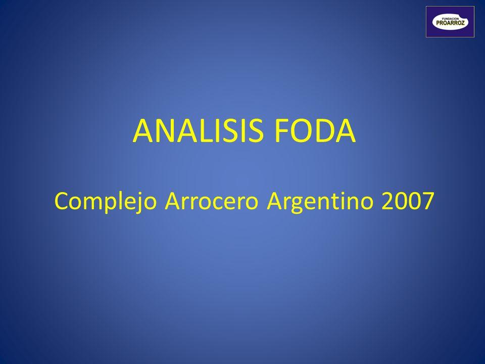ANALISIS FODA Complejo Arrocero Argentino 2007