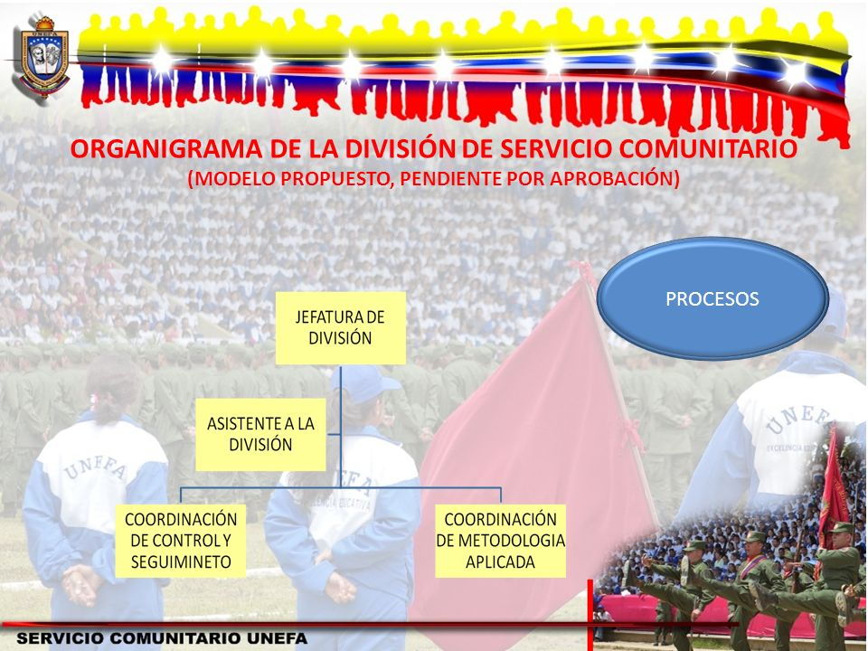 ORGANIGRAMA DE LA DIVISIÓN DE SERVICIO COMUNITARIO (MODELO PROPUESTO, PENDIENTE POR APROBACIÓN) PROCESOS