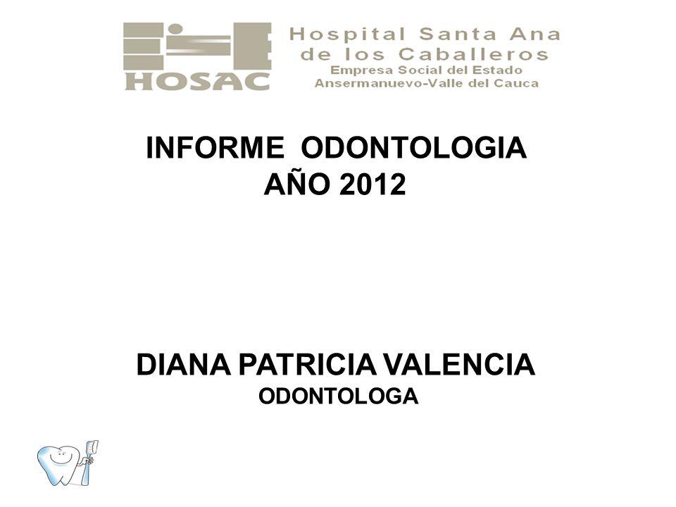 METAS A CUMPLIR EN ODONTOLOGIA PROYECTO SALUD PUBLICA 2012 CONTRATO CON EPS PROMOCION Y PREVENCION SALUD ORAL ABRIL A NOVIEMBRE DEL 2012.