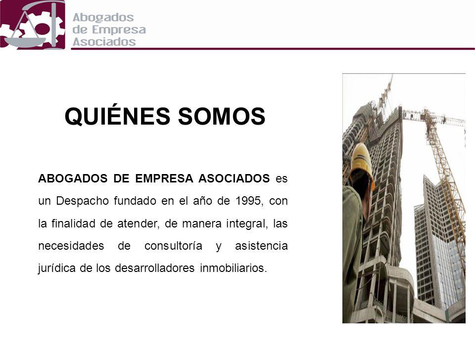 QUIÉNES SOMOS ABOGADOS DE EMPRESA ASOCIADOS es un Despacho fundado en el año de 1995, con la finalidad de atender, de manera integral, las necesidades