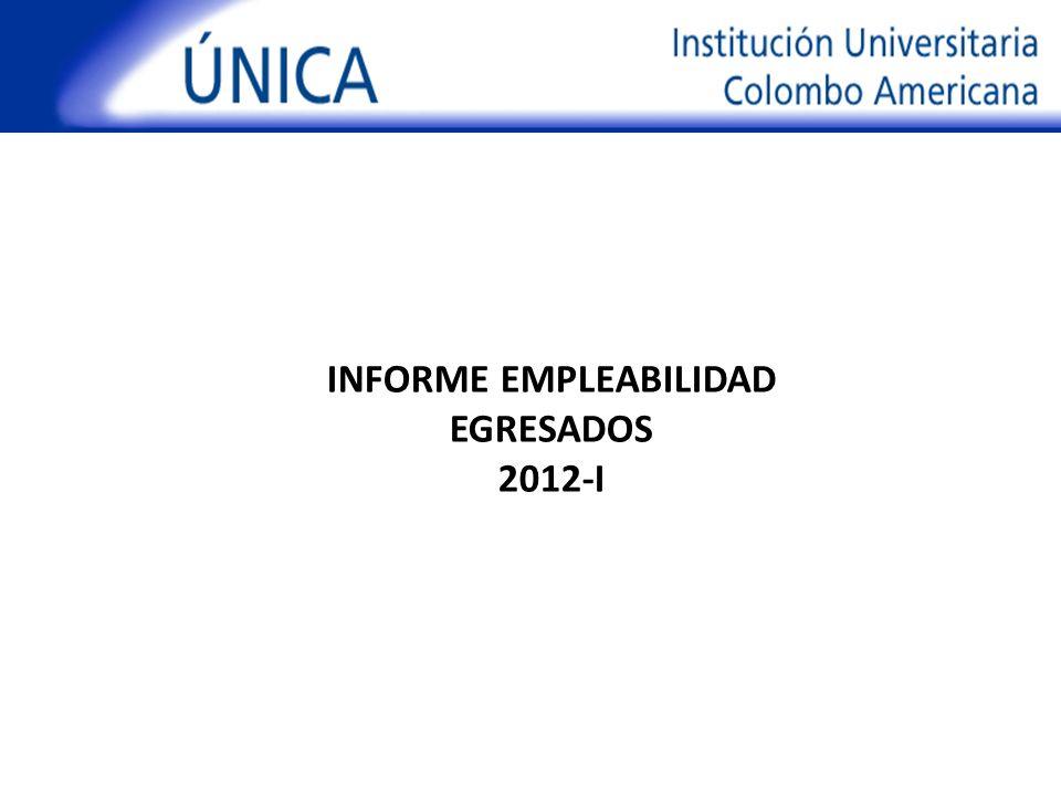 INFORME EMPLEABILIDAD EGRESADOS 2012-I