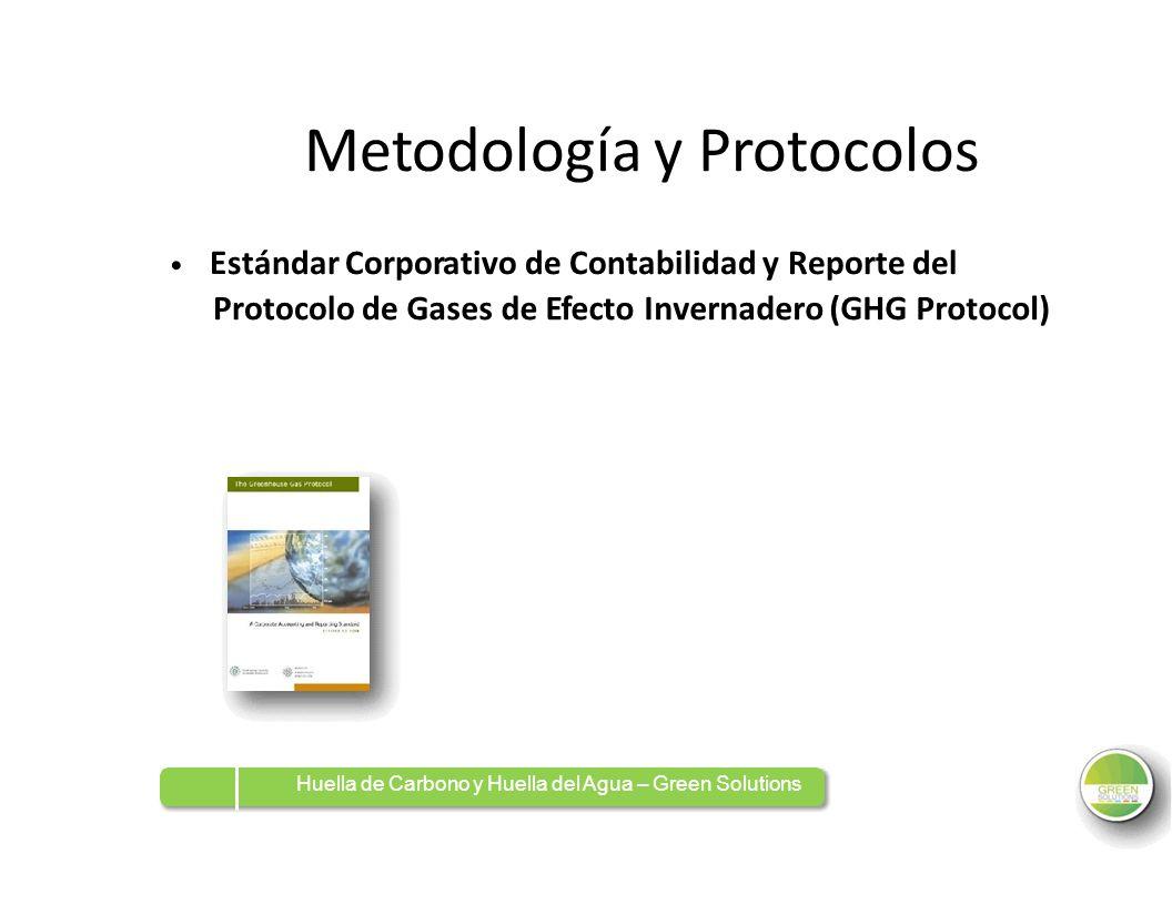 Metodología y Protocolos Estándar Corporativo de Contabilidad y Reporte del Protocolo deGasesdedeEfectoEfectoInvernadero (GHG Protocol) Huella de Carb