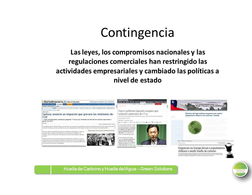 Contingencia Las leyes, los compromisos nacionales y las regulaciones comerciales han restringido las actividades empresariales y cambiado laspolítica
