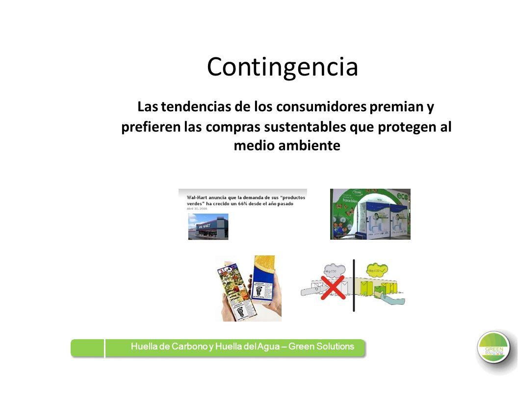 Contingencia Las tendencias de los consumidores premian y prefieren lascompras sustentables medio ambiente quequeprotegenalal Huella de Carbono y Huel