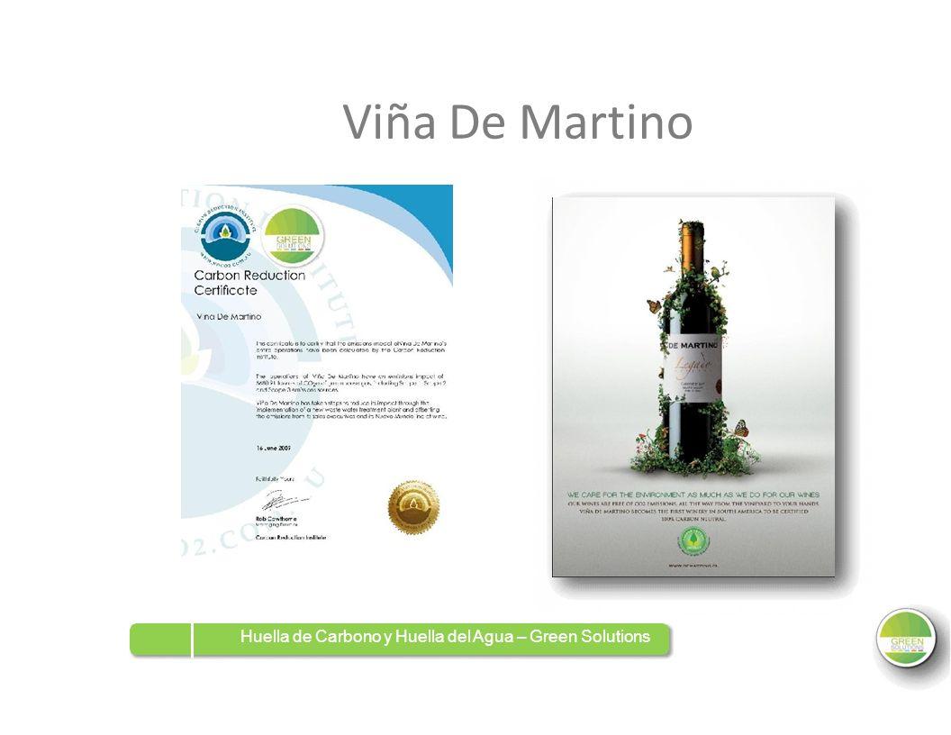 ViñaDeDeMartino Huella de Carbono y Huella del Agua – Green Solutions
