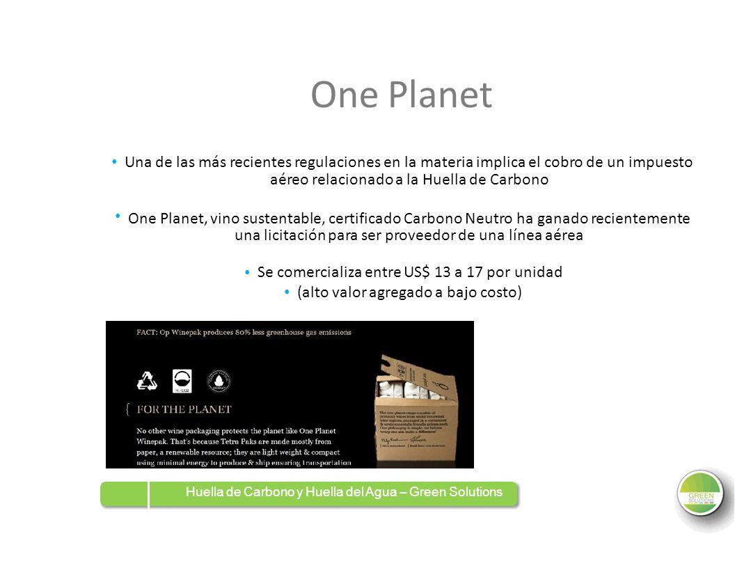 One Planet Una de las más recientes regulaciones en la materia implica el cobro de un impuesto aéreo relacionado a la Huella de Carbono One Planet, vi