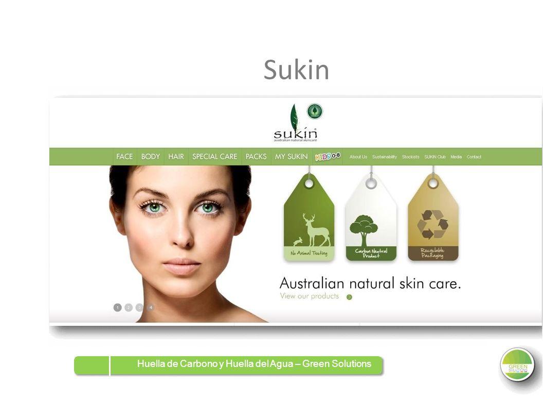 Sukin Huella de Carbono y Huella del Agua – Green Solutions