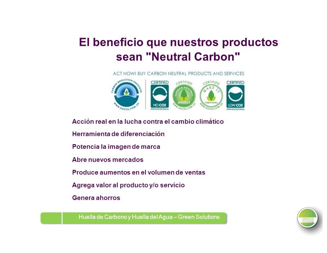 El beneficio que nuestros productos sean