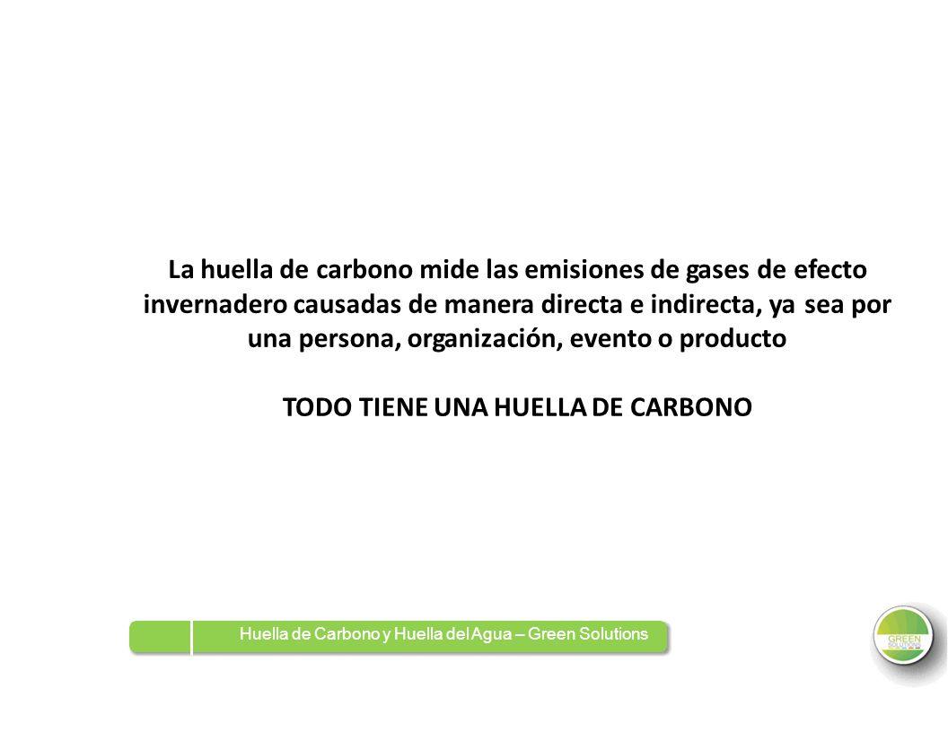 La huella de carbono mide las emisiones de gases de efecto invernadero causadas de manera directa e indirecta, ya una persona, organización, evento o