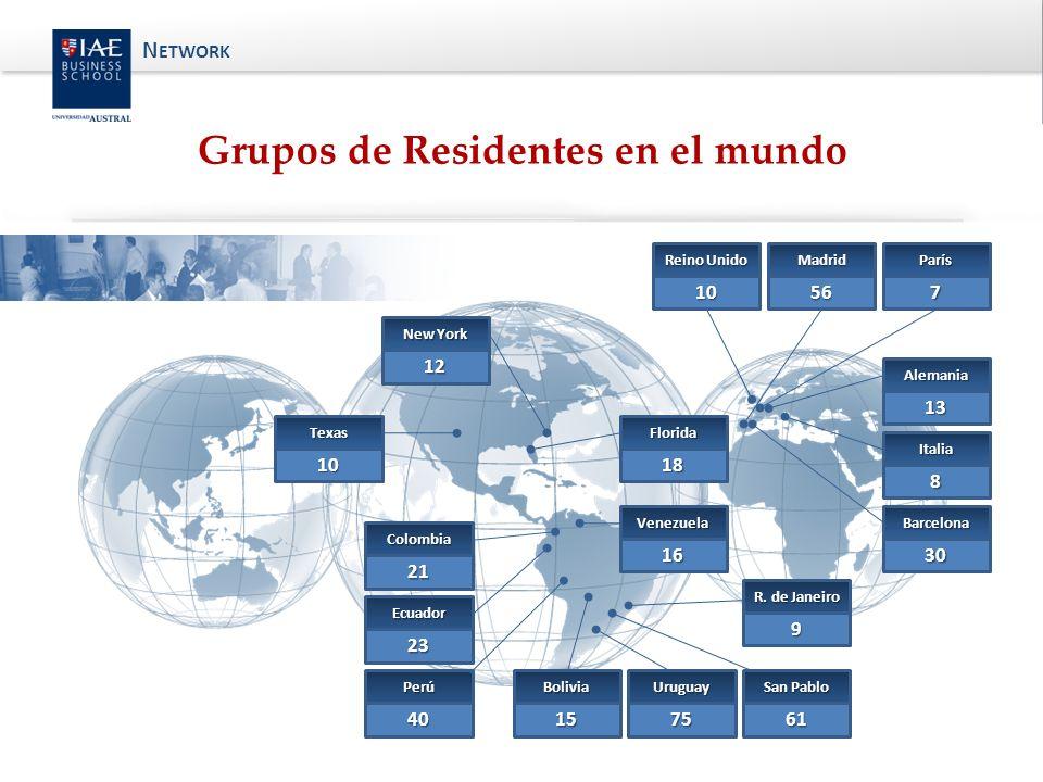 13 Alemania 10 Reino Unido 56 Madrid 30 Barcelona 12 New York 10 Texas 18 Florida Perú 40 Ecuador 23 Colombia 21 Bolivia 15 Uruguay 75 San Pablo 61 R.