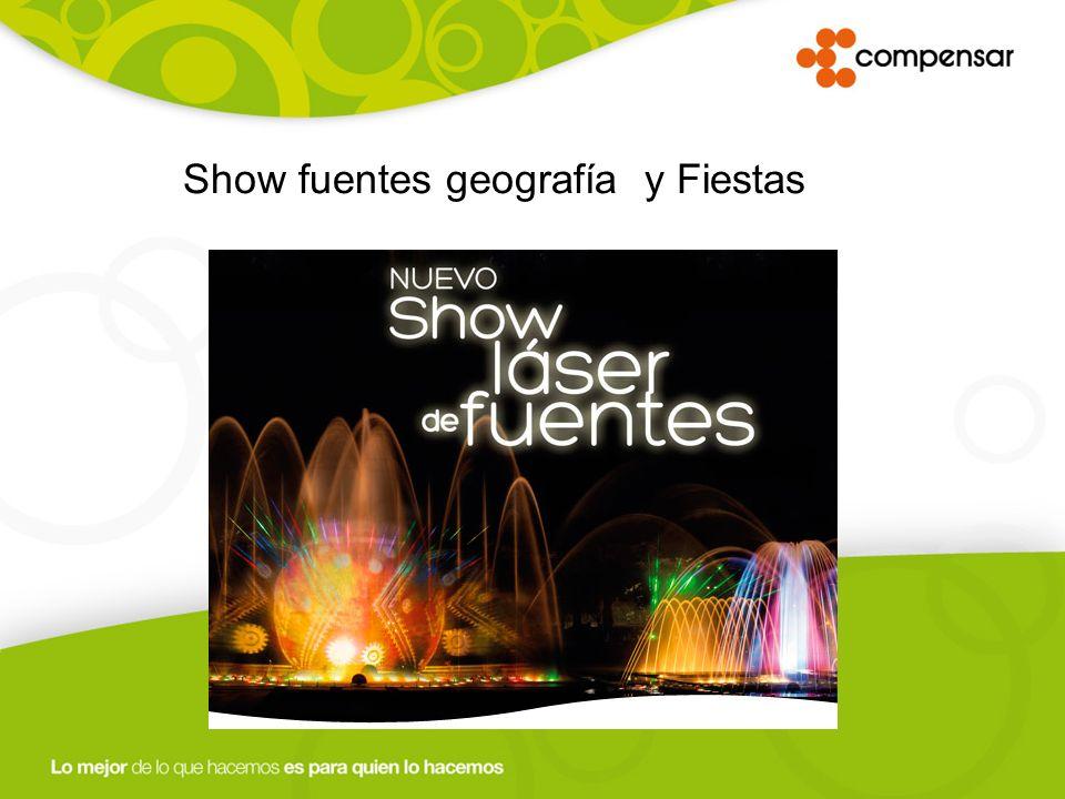 Show fuentes geografía y Fiestas
