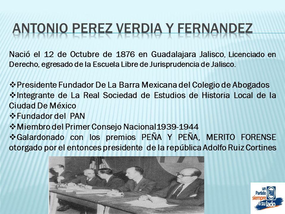 Nació el 12 de Octubre de 1876 en Guadalajara Jalisco, Licenciado en Derecho, egresado de la Escuela Libre de Jurisprudencia de Jalisco. Presidente Fu