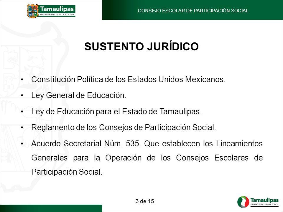 SUSTENTO JURÍDICO Constitución Política de los Estados Unidos Mexicanos. Ley General de Educación. Ley de Educación para el Estado de Tamaulipas. Regl