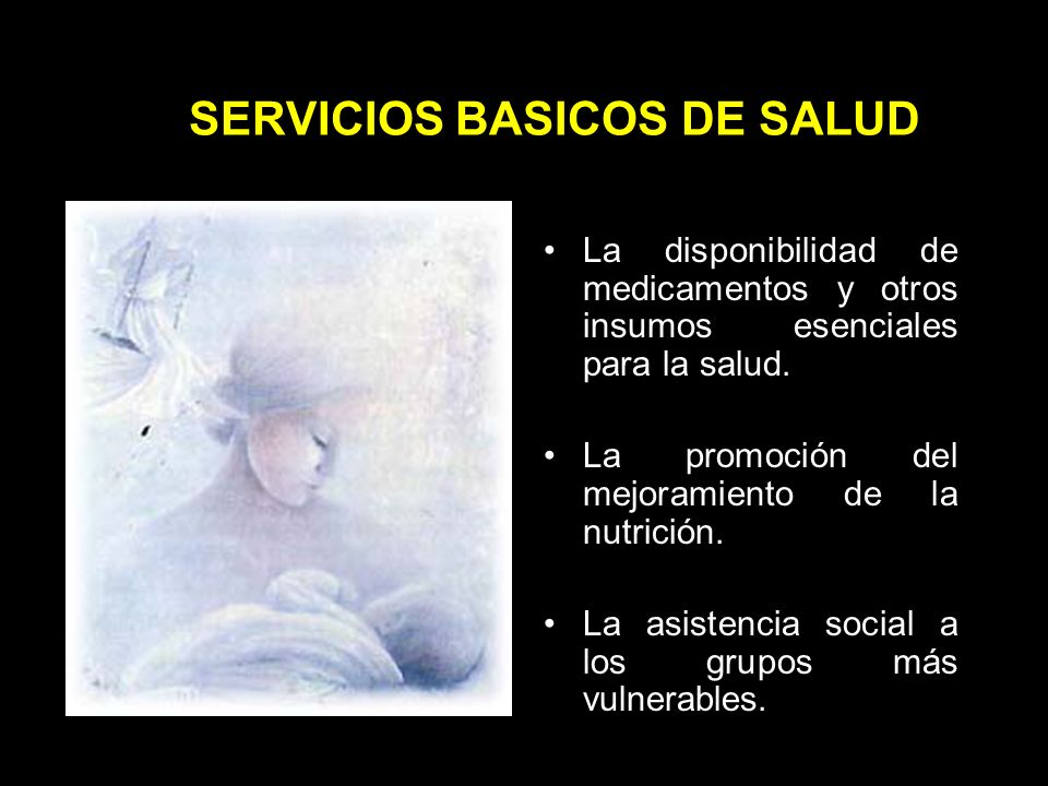 SERVICIOS BASICOS DE SALUD La atención materno- infantil.