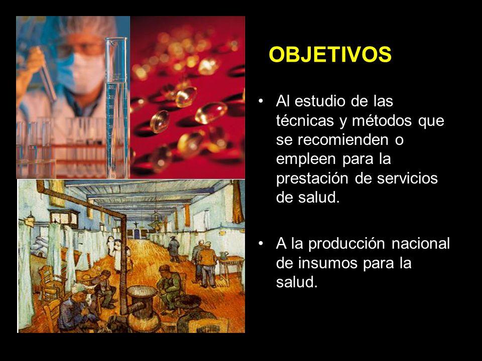 OBJETIVOS A la prevención y control de los problemas de salud que se consideren prioritarios para la población.