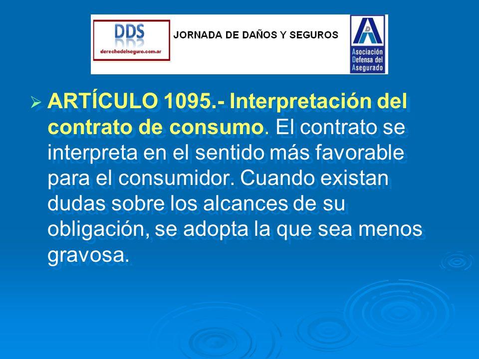 ARTÍCULO 1095.- Interpretación del contrato de consumo.