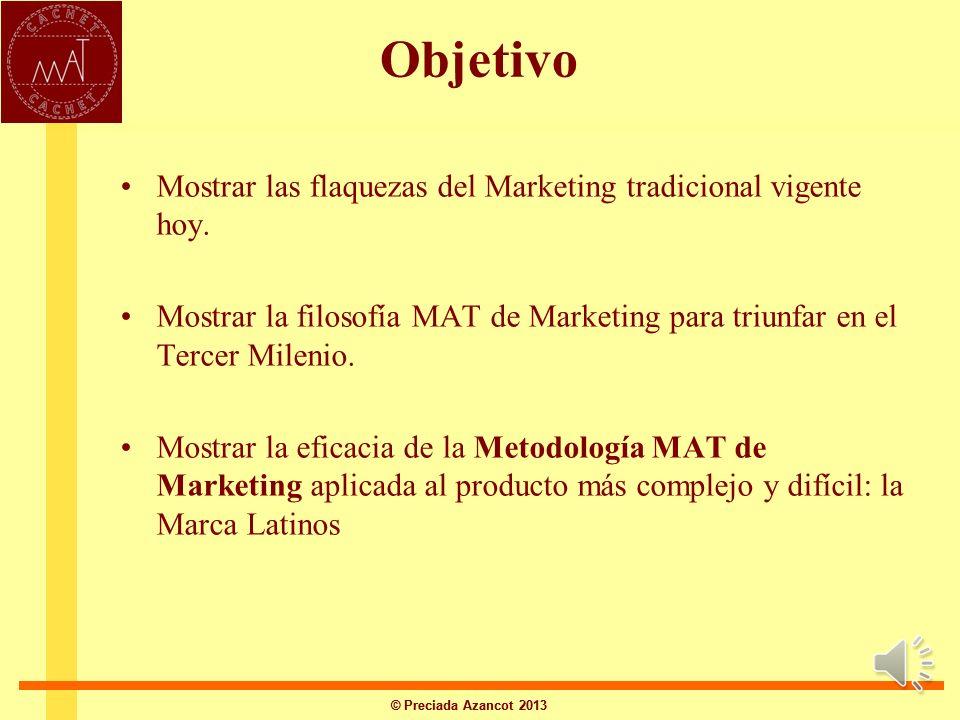 © Preciada Azancot 2013 La clave innovadora de América Latina en el Mundo, la tiene México: EL MARKETING DEL TERCER MILENIO: VENDER REVELANDO Y REVELA