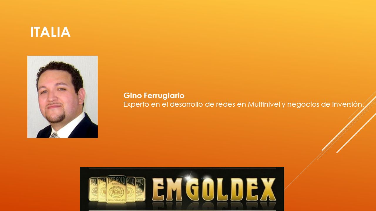 UCRANIA Ostap Pechenyi Líder Hispano su visión hizo posible el desarrollo de Emgoldex en todo el mundo latino.